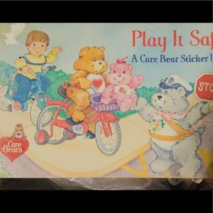 Care Bear Sticker Book Pizza Hut Play it Safe 1984
